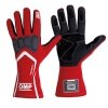 OMP Technica-S Race Gloves Red/White