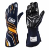 OMP One-S my2020 Race Gloves Navy Blue/Fluo Orange