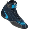 OMP First Evo Race Boots Dark Blue/Cyan