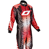 OMP KS Art Suit Black/Red/White