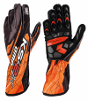 OMP  KS-2 ART Gloves Black/Fluo Orange