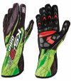 OMP  KS-2 ART Gloves Black/Fluo Green