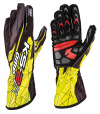 OMP  KS-2 ART Gloves Black/Fluo Yellow