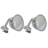 Motamec Classic Car 05 Side Door Wing Mirror x2 Chrome Steel Round Clamp On Bull