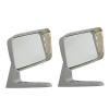 Motamec Classic Car 09 Side Wing Mirror x2 Chrome Square American Style