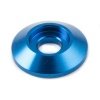 Motamec M6 Load Spreading Cone Washer - 6mm Socket Cap Bolt Support Blue Alloy