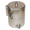 OBP Bulkhead Mount 2 Litre Fuel Swirl Pot with JIC Fittings