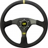 OMP Velocita Steering Wheel 380mm Black Suede
