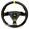 OMP Trecento Steering Wheel Black Suede