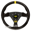 OMP Trecento Steering Wheel Black Leather