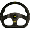 OMP Superquadro Steering Wheel Black Suede