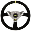OMP 320 Hybrid S Steering Wheel Black Suede