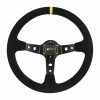R-Tech 350mm Deep Dish Suede Steering Wheel