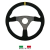 R-Tech 350mm Flat Suede Steering Wheel