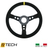 380mm, 3 Spoke Semi Dished Wheel Black Suede