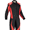 OMP Tecnica Evo Race Suit Black/Red
