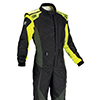 OMP Tecnica Evo Race Suit Black/Anthracite/Fluro Yellow