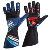 OMP KS-2R Kart Gloves Navy Blue/White/Cyan
