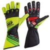 OMP KS-2R Kart Gloves Yellow/Fluo Green