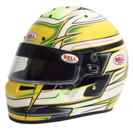 Bell KC7-CMR Full Face Kart Helmet Venom Yellow