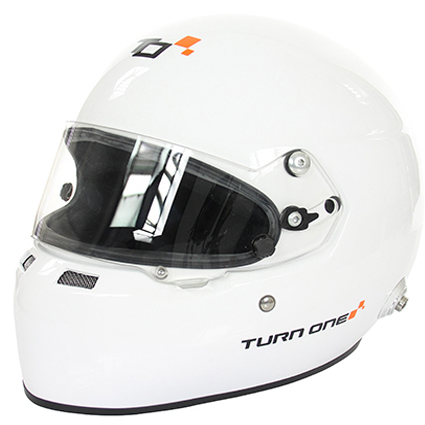 Turn One Full-RS Visor Helmet White